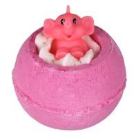 Sare de baie efervescenta Pink Elephants & Lemonade, Bomb Cosmetics 160g
