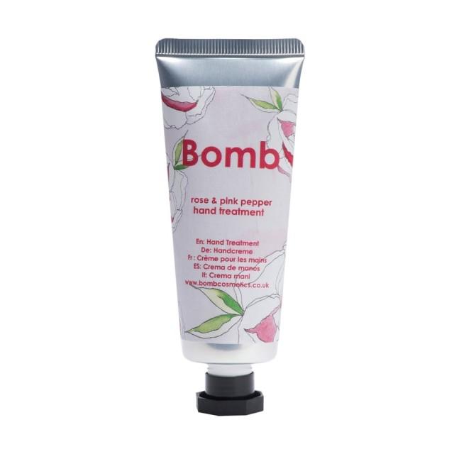 Tratament pentru maini Rose & Pink Pepper, Bomb Cosmetics, 25ml