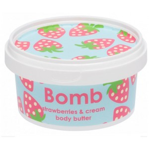 Unt pentru corp Strawberries & Cream Bomb Cosmetics, 210ml