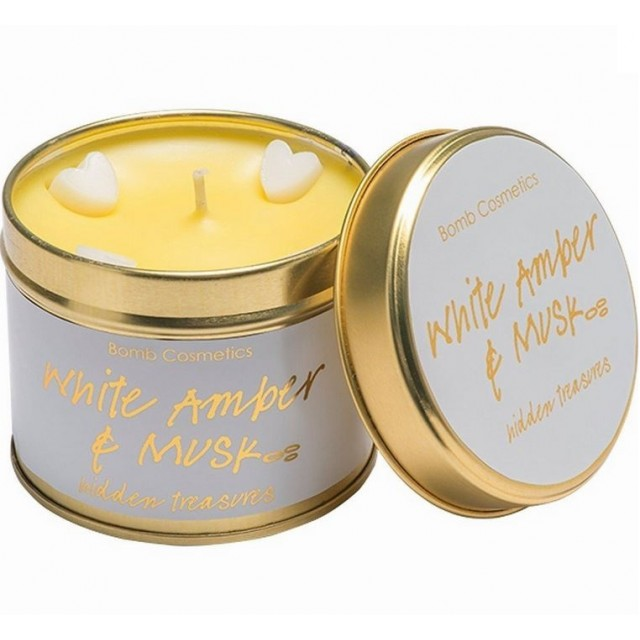 Lumanare parfumata White Amber & Musk, Bomb Cosmetics