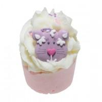 Sare de baie hidratanta Mallow Top Cat, Bomb Cosmetics 50g