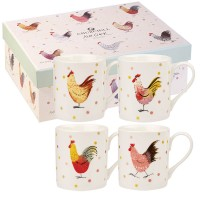 "Set 4 cani Alex Clark ""Rooster Giftset"" 250ml, Churchill"