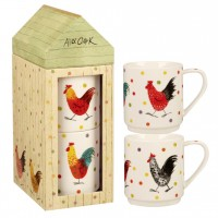 "Set 2 cani Alex Clark ""Rooster Giftset"" 320ml, Churchill"