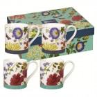 "Set 4 cani ""Blooms & Butterflies"" Giftbox, Churchill"