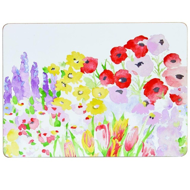 "Set 6 Placemats, suporturi farfurii, Collier Campbell ""Painted Garden"" 29x21CM, Churchill"