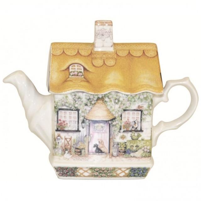 Ceainic din portelan fin Traditional England - Rose Cottage, Churchill