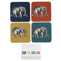 Coasters Harlequin Savanna - Set 6 piese 10x10 cm, Churchill