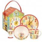 Set 4 piese mic dejun Little Rhymes - Hickory Dickory Dock
