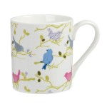 "Set 4 cani din portelan Julie Dodsworth ""Time to Nest"" 250ml in cutie cadou, Churchill"