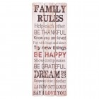 "Tablou motivational ""Family Rules"", Clayre & Eef"