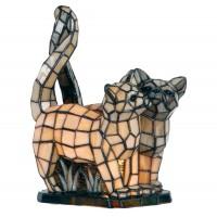 Lampa Tiffany Cats, 27x18x35 cm, 1x E14 / Max 40W, Clayre & Eef