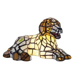 Lampa Tiffany Dogs, 17x31 cm, 1x E14 / Max 40W, Clayre & Eef