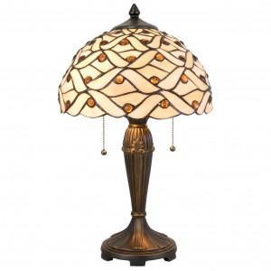 Lampa Tiffany, Ø 30x50 cm, 2x E27 / Max 40W, Clayre & Eef