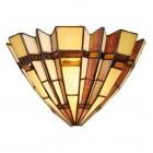 Lampa de perete Tiffany, 30x18 cm, E14 / Max 40W, Clayre & Eef