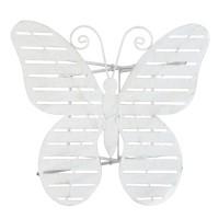 "Masa decorativa pentru terasa/gradina ""White Butterfly"" 67*63*60 cm, Clayre & Eef"