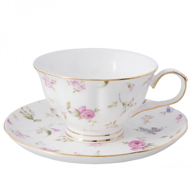 """Ceasca cu farfurie """"Romantic Tea"""", Clayre & Eef"""