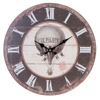 """Ceas """"Le Pilote"""" Ø 34*3 cm, Clayre & Eef"""