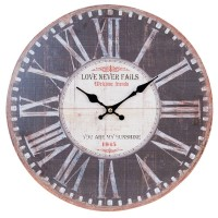 "Ceas ""Love Never Fails"" Ø 34*3 cm, Clayre & Eef"