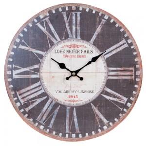 """Ceas """"Love Never Fails"""" Ø 34*3 cm, Clayre & Eef"""