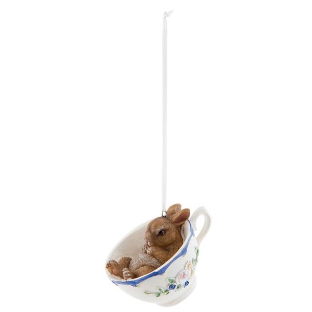 "Decoratiune pentru agatat ""Bunny in cup"", Clayre & Eef"