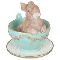 "Decoratiune ""Bunny in cup"", Clayre & Eef"