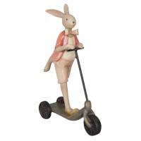 """Decoratiune """"Mr. Bunny on Scooter"""", Clayre & Eef"""