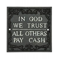 "Tablou ""In God we trust"", Clayre & Eef"