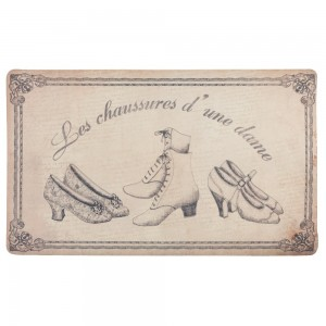 """Covoras de intrare """"Chaussures"""" 74x44 cm, Clayre & Eef"""