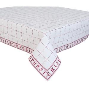 "Fata de masa ""Cross Stitched Pattern"" 130*180 cm, Clayre & Eef"