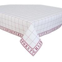 "Fata de masa ""Cross Stitched Pattern"" 150*250 cm, Clayre & Eef"