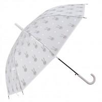 "Umbrela pentru copii ""Bunny"" - Grey Ø 90*55 cm, Clayre & Eef"