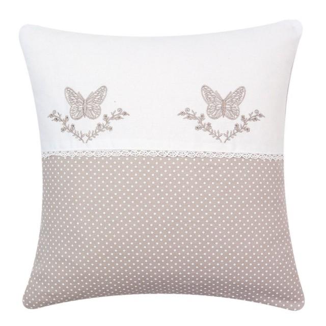 """Fata de perna """"Butterflies"""" 40*40 cm, Clayre & Eef"""