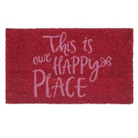 "Covoras de intrare ""Happy Place"" 75x45 cm, Clayre & Eef"