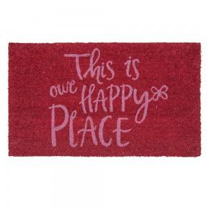 """Covoras de intrare """"Happy Place"""" 75x45 cm, Clayre & Eef"""