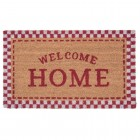 "Covoras de intrare ""Welcome Home"" Red 75x45 cm, Clayre & Eef"
