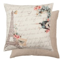 "Fata de perna ""Paradis D'Oiseaux"" 40*40 cm, Clayre & Eef"