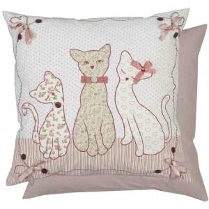 """Perna decorativa """"Aristocrat cats"""" 50*50 cm, Clayre & Eef"""