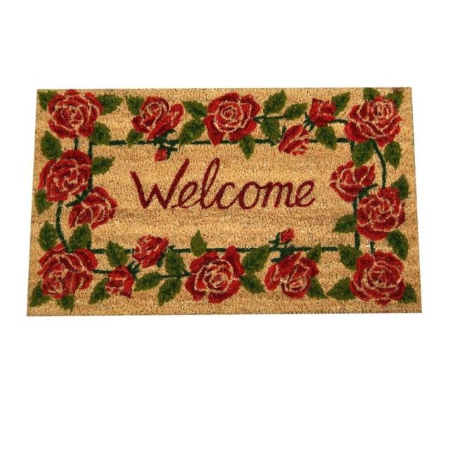 "Covoras de intrare ""Roses"" 75x45 cm, Clayre & Eef"