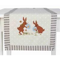 "Napron ""Easter Bunny"" 40*120 cm, Clayre & Eef"