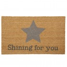 "Covoras de intrare ""Shining for you"" 75x45 cm, Clayre & Eef"