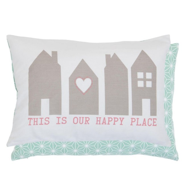 "Perna decorativa ""Your Happy Place"" 35*50 cm, Clayre & Eef"