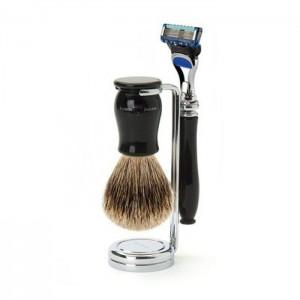 Set barbierit 3 piese Chatsworth Black Fusion Pro Glide 3PCIECFBB, Edwin Jagger