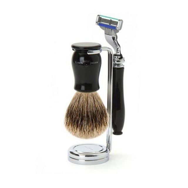 Edwin Jagger Set barbierit 3 piese 3PCIECM3BB, Chatsworth Black Mach3