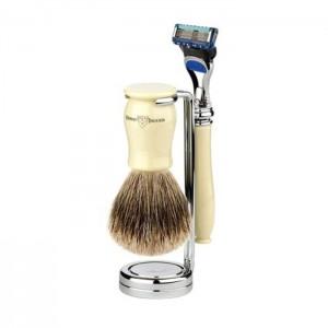 Set barbierit 3 piese Chatsworth Ivory Fusion Pro Glide 3PCIVRFBB, Edwin Jagger