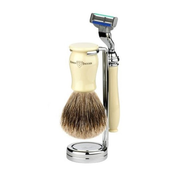 Edwin Jagger Set barbierit 3 piese 3PCIVCM3BB, Chatsworth Ivory Mach3