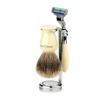 Edwin Jagger Set barbierit 3 piese 3PCIVPM3BB, Plaza Ivory Mach3