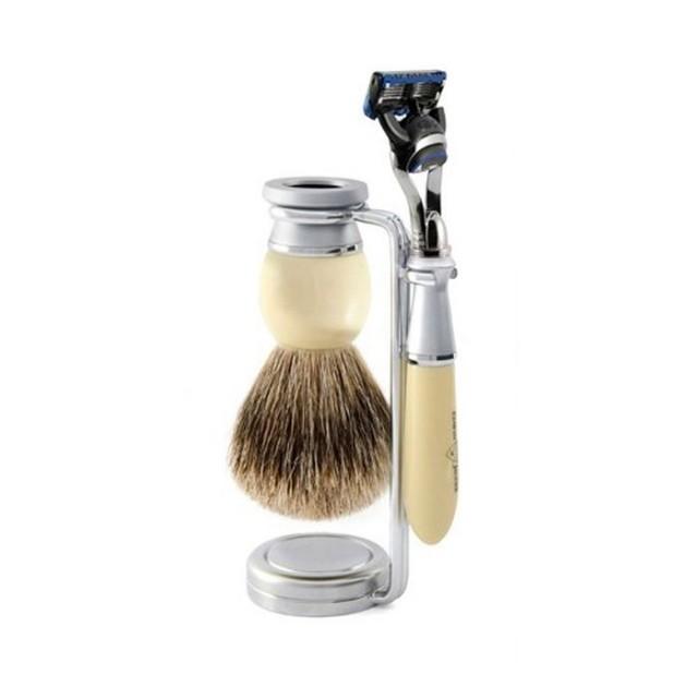 Edwin Jagger Set barbierit 3 piese 3PCIVRFBB, Riva Fusion