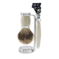 Edwin Jagger Set barbierit 3 piese 3PCB9FBB, Bulbous Grey Fusion Pro Glide