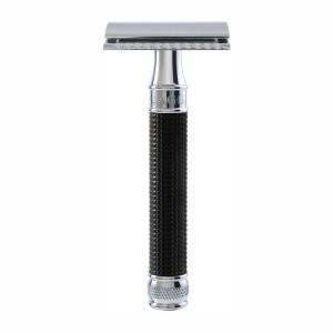 Aparat de barbierit clasic, DE3DBC15BL 3D Black Chrome, Edwin Jagger
