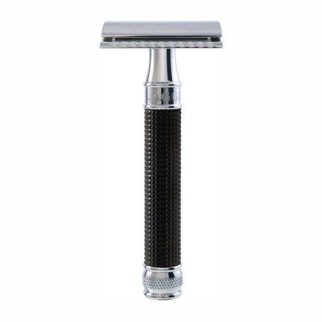 Edwin Jagger Aparat de barbierit clasic, DE3DBC15BL 3D Black Chrome